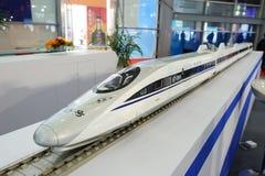 Modelo chinês do trem de alta velocidade de CRH380A fotografia de stock royalty free