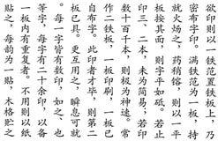 Modelo chino de la escritura Foto de archivo