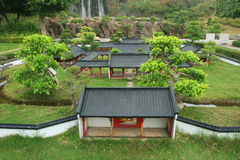 Modelo chino del palacio en Shenzhen Imagenes de archivo