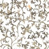Modelo chino inconsútil Papel pintado del estilo de la acuarela con el ornamento floral stock de ilustración