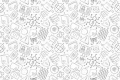 Modelo cibernético de la seguridad del vector Fondo inconsútil de la seguridad cibernética stock de ilustración