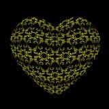 Modelo a cielo abierto bajo la forma de corazón Foto de archivo
