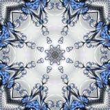 Modelo a cielo abierto fabuloso bajo la forma de copos de nieve o cordón Imagenes de archivo