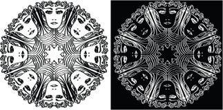 Modelo circular abstracto con una persona Foto de archivo libre de regalías