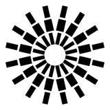 Modelo circular bajo la forma de rayos de rectángulos Ilustración del vector stock de ilustración