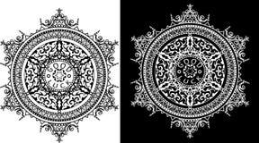 Modelo circular de adornos tradicionales Foto de archivo libre de regalías