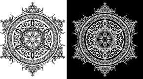 Modelo circular de adornos tradicionales Fotos de archivo