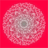 Modelo circular floral Foto de archivo