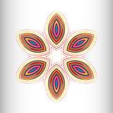Modelo circular hermoso para su diseño stock de ilustración