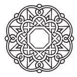 Modelo circular Ornamento étnico islámico para la cerámica, tejas, materias textiles, tatuajes libre illustration