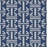 Modelo clásico azul japonés del diseño ilustración del vector