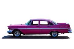 Modelo clásico del coche americano del vintage del rosa de años 50 o de años 60 imagen de archivo