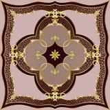 Modelo clásico rosado de lujo del leopardo y del oro imagenes de archivo