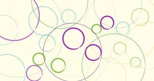 Modelo clasificado multi de las burbujas en un fondo beige stock de ilustración
