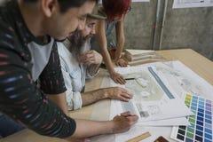 Modelo Co de Creative Occupation Meeting del arquitecto del estudio del diseño Imagen de archivo libre de regalías