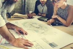 Modelo Co de Creative Occupation Meeting del arquitecto del estudio del diseño Fotos de archivo