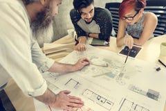 Modelo Co de Creative Occupation Meeting del arquitecto del estudio del diseño Imagenes de archivo