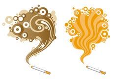 Modelo cobarde del humo Foto de archivo libre de regalías