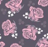 Modelo color de rosa de la vendimia inconsútil ilustración del vector