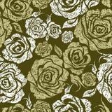 Modelo color de rosa del grunge de la flor inconsútil de la vendimia Fotografía de archivo libre de regalías