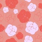 Modelo color de rosa rojo y rosado simple Foto de archivo libre de regalías