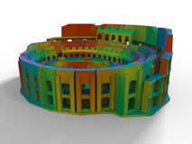 Modelo coloreado arco iris de Colosseum 3D libre illustration