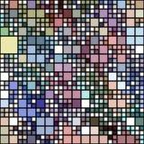 Modelo coloreado en colores pastel de los bloques Imagenes de archivo