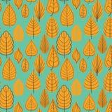 Modelo coloreado en tema de las hojas Autumn Pattern Imagen de archivo