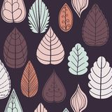 Modelo coloreado en tema de las hojas Autumn Pattern Fotografía de archivo