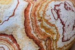 Modelo coloreado piedra de los wawes Imagen de archivo