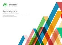 Modelo colorido abstracto del triángulo de la coincidencia en el fondo blanco w Fotografía de archivo