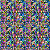 Modelo colorido con los puntos y las áreas coloreadas Imagen de archivo
