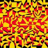 Modelo colorido de formas geométricas Fotos de archivo