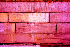 Modelo colorido de la pared de ladrillo, ladrillos pintados como textura urbana Foto de archivo