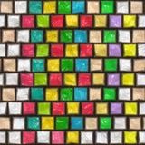 Modelo colorido de la piedra del adoquín Foto de archivo libre de regalías