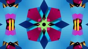 Modelo colorido de la textura del fondo del arte de la decoración del kaleida del caleidoscopio del extracto inconsútil de la ani stock de ilustración