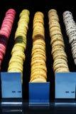 Modelo colorido de las galletas Foto de archivo