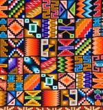 Modelo colorido de una manta o de una tapicería peruana Foto de archivo