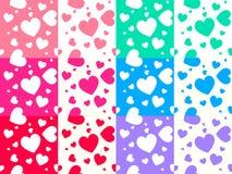 Modelo colorido del corazón Fotografía de archivo libre de regalías