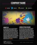 Modelo colorido del diseño del Web site Imagenes de archivo