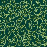 Modelo colorido del flourish sobre fondo verde libre illustration