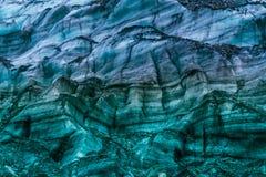 Modelo colorido del glaciar Imagenes de archivo