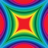 Modelo colorido del rectángulo cóncavo Efecto visual del volumen libre illustration