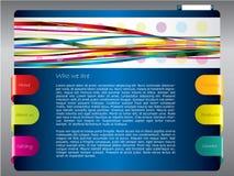 Modelo colorido del Web con las cintas Imágenes de archivo libres de regalías