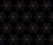 Modelo colorido del web de araña Imagenes de archivo