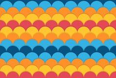 Modelo colorido inconsútil con los círculos Fotos de archivo