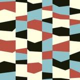 Modelo colorido inconsútil de la geometría del vector stock de ilustración
