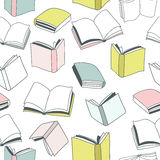 Modelo colorido inconsútil de los libros Illstration del vector Fotos de archivo libres de regalías