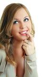 Modelo com olhos azuis surpreendentes Fotografia de Stock Royalty Free