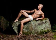 Modelo com pedras Foto de Stock Royalty Free